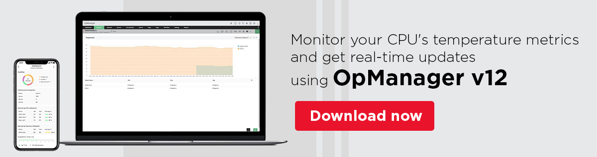 CPU Temperature Monitor - ManageEngine OpManager